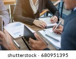 business people meeting at... | Shutterstock . vector #680951395