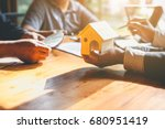business signing a contract buy ... | Shutterstock . vector #680951419