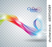 elegant vector flowing color... | Shutterstock .eps vector #680954089