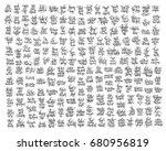 mega set of 200 hand lettering