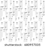 seamless pattern from house... | Shutterstock .eps vector #680957035