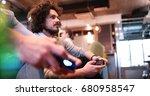 work hard play hard. office... | Shutterstock . vector #680958547