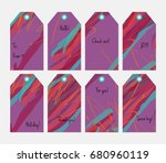 hand drawn creative tags.... | Shutterstock .eps vector #680960119