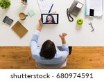 business  people and technology ... | Shutterstock . vector #680974591