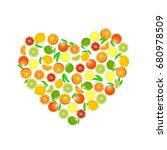 heart from fruits  vector....   Shutterstock .eps vector #680978509