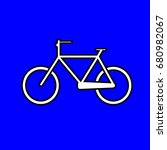 bicycle icon   sign design  | Shutterstock .eps vector #680982067