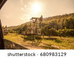 Oil Pump Near A Forest  Visibl...
