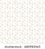 seamless geometric line grid... | Shutterstock .eps vector #680983465