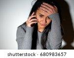people  helpline and domestic... | Shutterstock . vector #680983657