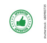 approved rubber stamp vector | Shutterstock .eps vector #680983735