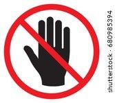 symbol for prohibition do not... | Shutterstock .eps vector #680985394