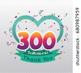thank you design template for... | Shutterstock .eps vector #680987959