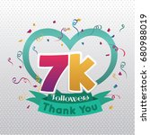 thank you design template for... | Shutterstock .eps vector #680988019