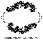 black and white silhouette... | Shutterstock . vector #680989297