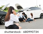 Asia Women Stressed Driver...