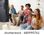 friendship  leisure  people and ... | Shutterstock . vector #680990761