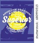 superior surfer graphic design... | Shutterstock .eps vector #680993515