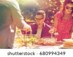leisure  holidays  eating ... | Shutterstock . vector #680994349