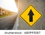 "yellow traffic sign ""go...   Shutterstock . vector #680995087"