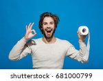 wc and restroom. hygiene and... | Shutterstock . vector #681000799