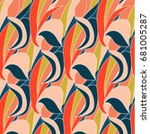 seamless patterns for textiles  ... | Shutterstock .eps vector #681005287