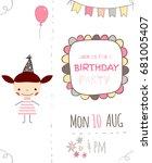 cute invitation for children... | Shutterstock .eps vector #681005407