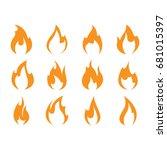 fire icon set | Shutterstock .eps vector #681015397