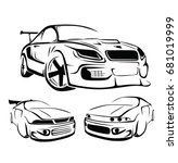 sport car vector | Shutterstock .eps vector #681019999