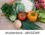 fresh summer vegetables | Shutterstock . vector #68102269