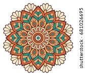 flower mandala. vintage... | Shutterstock .eps vector #681026695