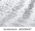 abstract pattern of geometric... | Shutterstock .eps vector #681030637