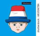 vector of  international flags... | Shutterstock .eps vector #681036784
