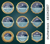 set of luxury badges | Shutterstock .eps vector #681042007