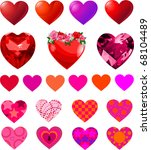 fun vector set of different... | Shutterstock .eps vector #68104489