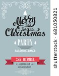 christmas party invitation card ... | Shutterstock . vector #681050821