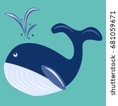 Vector Illustration Whale Whale