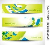 abstract header vector set | Shutterstock .eps vector #68106793