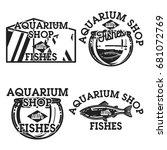 color vintage aquarium shop... | Shutterstock .eps vector #681072769