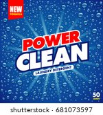 clean soap wash background ...   Shutterstock .eps vector #681073597
