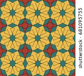 colored background of geometric ... | Shutterstock .eps vector #681095755