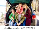 family going on vacation | Shutterstock . vector #681098725