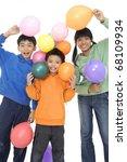 group of young children in... | Shutterstock . vector #68109934