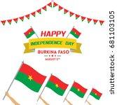 independence day of burkina... | Shutterstock .eps vector #681103105