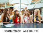 gossiping by the cocktail.... | Shutterstock . vector #681103741