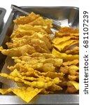 Small photo of Asian crispy fried wanton sheet