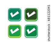 color app icon button game...   Shutterstock . vector #681122041