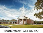 white and brown baptist church... | Shutterstock . vector #681132427