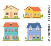 house collection | Shutterstock .eps vector #681135034