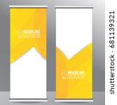 roll up business brochure flyer ...   Shutterstock .eps vector #681139321