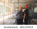 engineer discussing with... | Shutterstock . vector #681142015